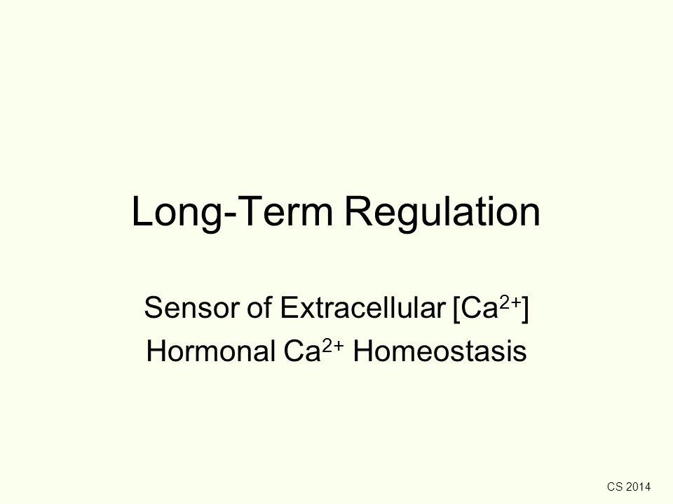 Sensor of Extracellular [Ca2+] Hormonal Ca2+ Homeostasis